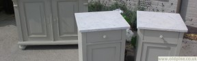 marble top bedsides-hand painted