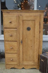 antique pine bread cupboard