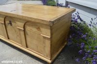 antique pine flat top chest trunks blanket boxes