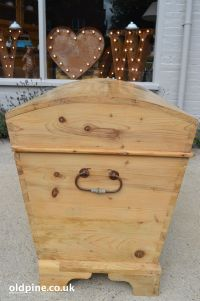 antique pine dome top trunk