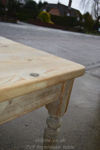 scrubbed pine table