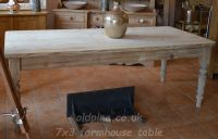 scrub top old pine table