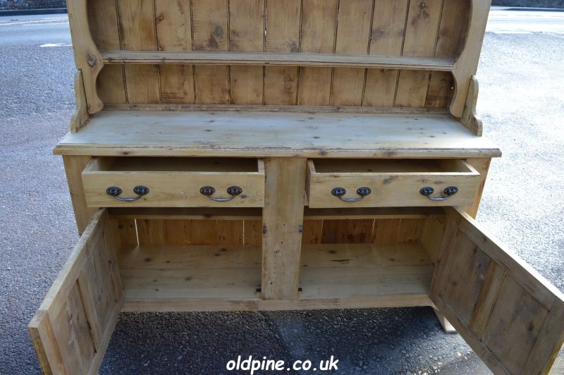 old reclaimed pine open dresser