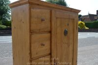 side and front top half Stock ref W3964 bread/larder cupboard oldpine.co.uk
