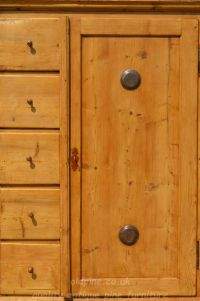 close up of door and drawer fronts Stock ref W3964 bread/larder cupboard oldpine.co.uk