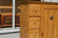 top three drawers and top vent Stock ref W3964 bread/larder cupboard oldpine.co.uk