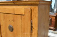 nice close up image of door and right hand side panel Stock ref W3964 bread/larder cupboard oldpine.co.uk