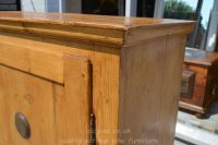 showing lovely patina and top Stock ref W3964 bread/larder cupboard oldpine.co.uk