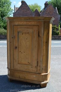 single door tall cupboard Stock ref W3948 oldpine.co.uk